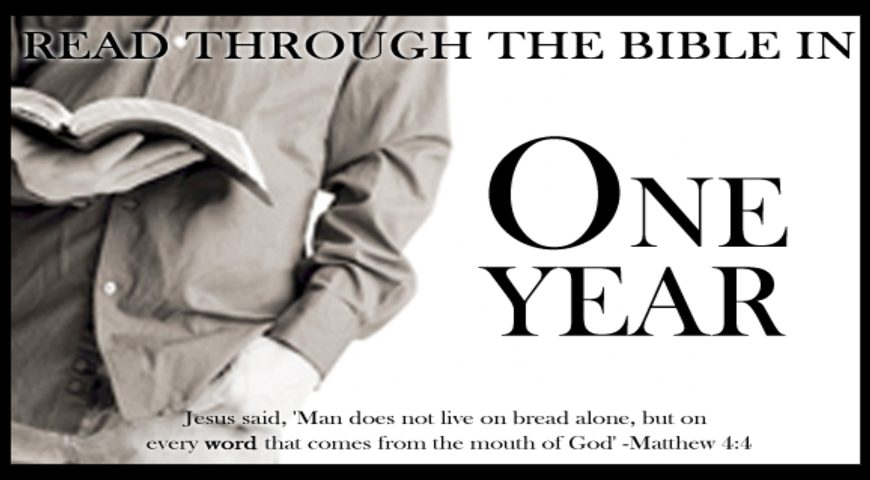 Read the Bible in a year.