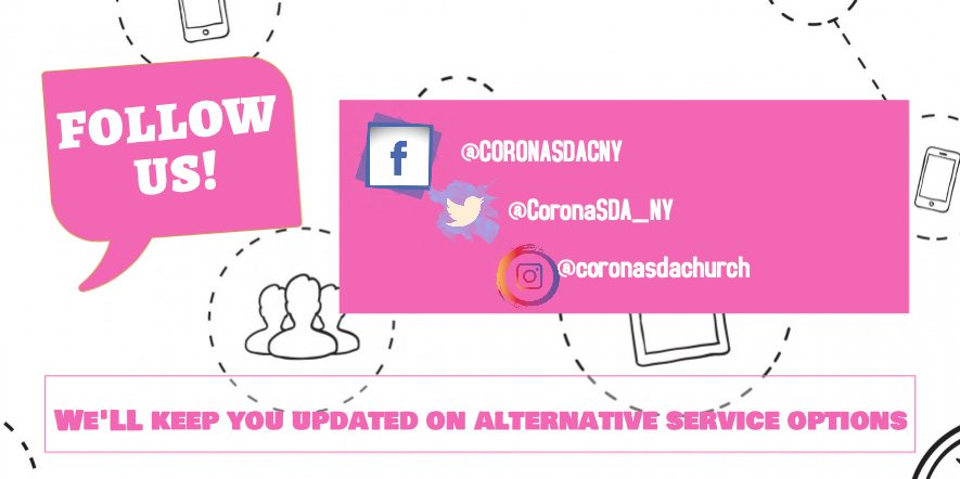 Follow us on Social media for Alternative Service options.
